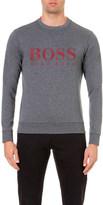 HUGO BOSS Logo print cotton-blend jumper