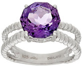 QVC As Is 100- Facet Gemstone Sterling Silver Ring 2.90 ct tw