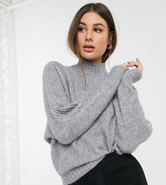 Vero Moda Tall jumper with batwing in grey