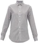 Officine Generale Gaelle Striped Cotton-poplin Shirt - Womens - Black White