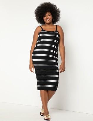 ELOQUII Striped Cami Dress