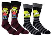 The Simpsons Bart Simpson Casual Crew Socks 2 Pair Pack