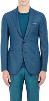 Boglioli MEN'S DONEGAL-EFFECT TWO-BUTTON SPORTCOAT-GREEN SIZE 42