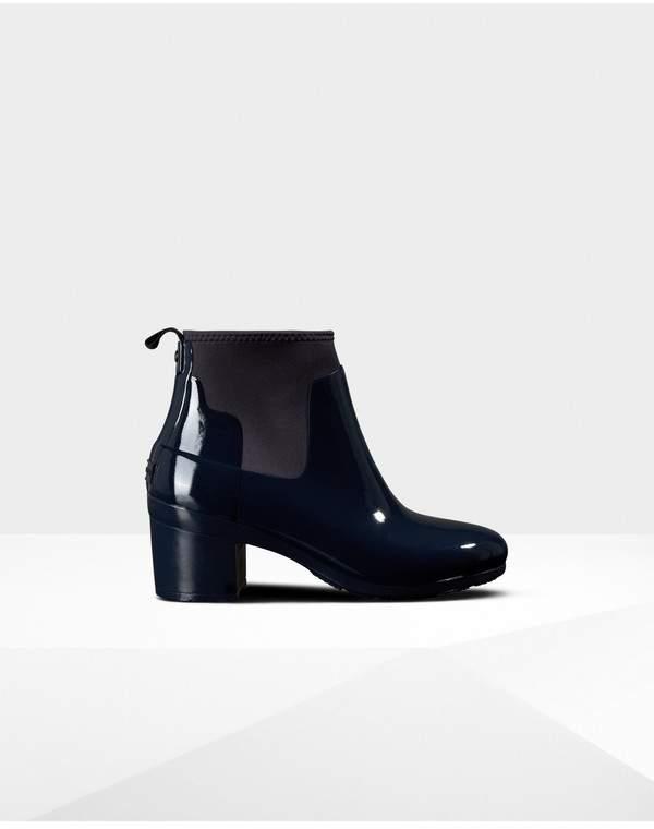 new styles 6707f c6ca1 Womens Refined Gloss Mid Heel Boots