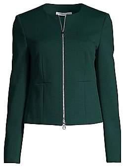 BOSS Women's Jaxine Structured Jersey Houndstooth Jacket