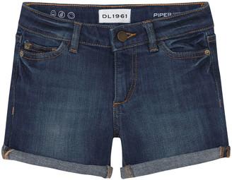 DL1961 Girl's Piper Cuffed Denim Shorts, Size 2-6