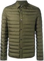 Salvatore Ferragamo buttoned down jacket - men - Silk/Polyamide/Feather/Goose Down - 48