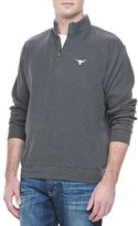 Peter Millar Gameday Texas Longhorns 1/4-Zip Fleece Pullover, Charcoal