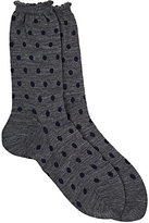 Antipast Women's Dotted Mid-Calf Socks-GREY