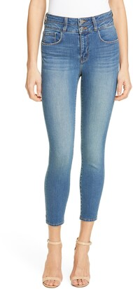 L'Agence Peyton High Waisted Crop Skinny Jeans