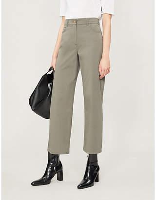 Selfridges S Max Mara Rio cropped straight high-rise jeans