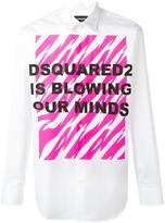DSQUARED2 Blowing Our Minds shirt - men - Cotton - 46