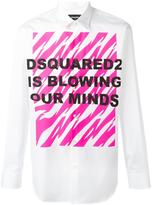 DSQUARED2 Blowing Our Minds shirt - men - Cotton - 52