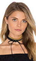 Fallon Leather Wrap Choker in Black.