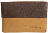 James Campbell Leather Slimfold Wallet