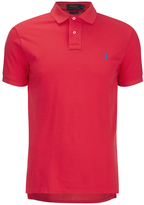 Polo Ralph Lauren Men's Short Sleeve Custom Fit Polo Shirt Bright Hibiscus