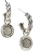 John Hardy Classic Chain Kepang Pave Diamond Drop Earrings