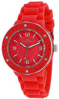 Oceanaut Womens Acqua Red Silicone Strap Watch Family