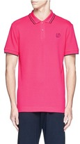 McQ by Alexander McQueen Swallow skull patch appliqué polo shirt
