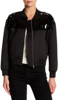 Ark & Co Neoprene Sequined Bomber Jacket