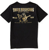 True Religion Big Boys 8-20 Gold Branded Logo Graphic Tee