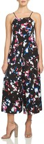 1 STATE 1.state Abstract Floral Pleated Wide Leg Jumpsuit