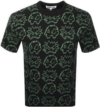 McQ Allover Logo T Shirt Black