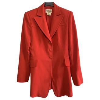 Hermes Red Wool Jacket for Women Vintage