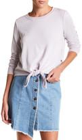 Noisy May Molly Front Tie Long Sleeve Sweatshirt