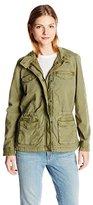 Lucky Brand Women's Core Military Jacket Winter Moss Outerwear LG (US 10-12)