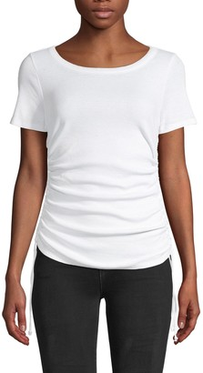 Chaser Cinched Side-Tie Cotton-Blend Tee