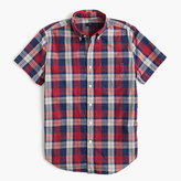 J.Crew Slim short-sleeve lightweight cotton shirt in red plaid