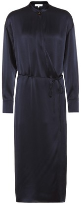 Vince Silk-satin wrap dress