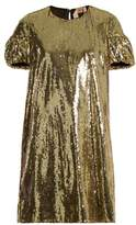 No.21 NO. 21 Puff-sleeved sequin-embellished mini dress