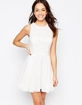 New Look New Look Lace Chiffon Dress