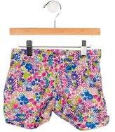 Papo d'Anjo Girls' Floral Print Mini Shorts