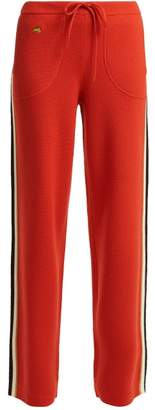 Bella Freud Race Merino-wool Track Pants - Womens - Red