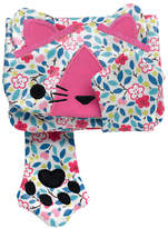 Cath Kidston Cath Kids Children's Littlemore Flower Cat Purse, Pink/Multi