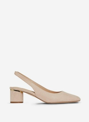 Dorothy Perkins Womens Wide Fit Beige 'Dollar' Court Shoes