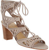 Marc Fisher Suede Perforated Lace-up Sandals -Petite
