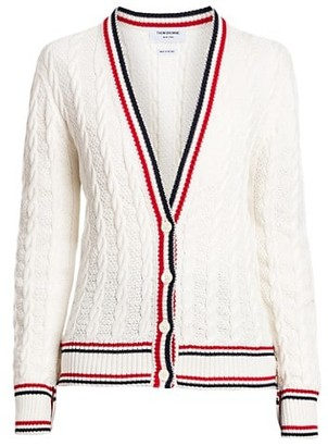 Thom Browne Heritage Cable-Knit Cardigan