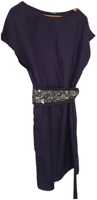 BOSS ORANGE Purple Silk Dress for Women