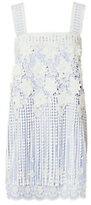 Alexis Fulton Lace Overlay Striped Mini Dress