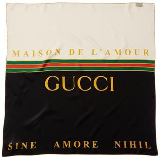 Gucci Maison De L'amour Silk Scarf