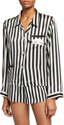 Morgan Lane Ruthie Mini Mask Silk Pajama Top
