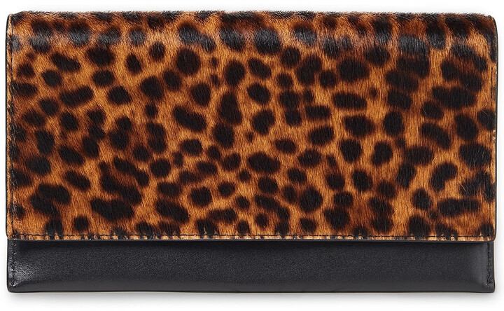 Rebecca Minkoff Leopard-print Calf Hair And Leather Continental Wallet