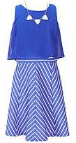 I.N. Girl Big Girls 7-16 Popover Striped Dress