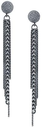 Sheryl Lowe Chain Fringe & Pave Diamond Earrings