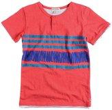 Appaman Stripe Slub Henley (Toddler/Kid) - Washed Red-4T
