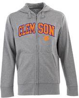 Antigua Men's Clemson Tigers Signature Zip Front Fleece Hoodie
